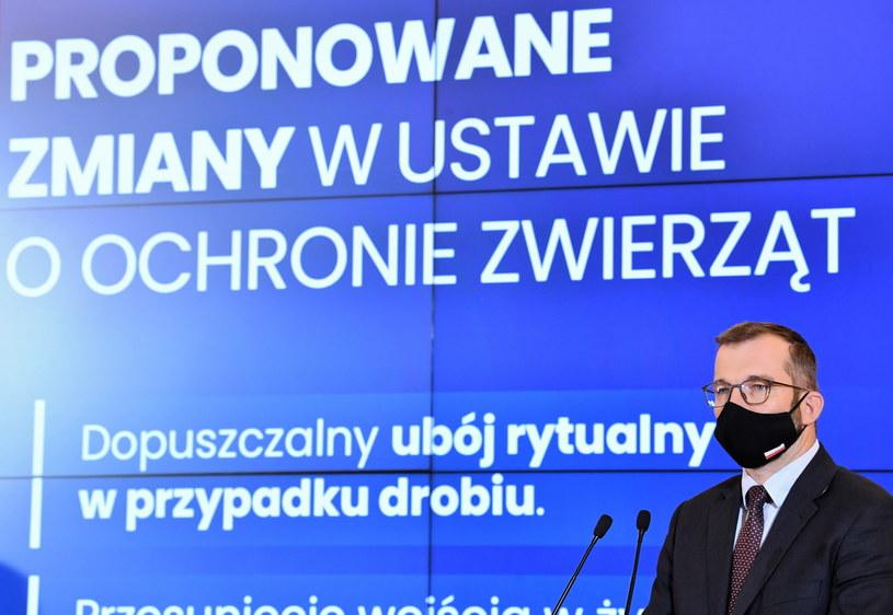 Minister rolnictwa Grzegorz Puda / Radek Pietruszka   /PAP
