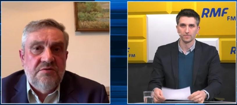 Minister rolnictwa Jan Krzysztof Ardanowski pdoczas rozmowy z dziennikarzem RMF FM Marcinem Zaborskim /RMF