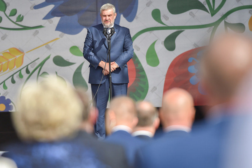 Minister rolnictwa Jan Krzysztof Ardanowski podczas Dożynek Prezydenckich. /Zbyszek Kaczmarek /Reporter