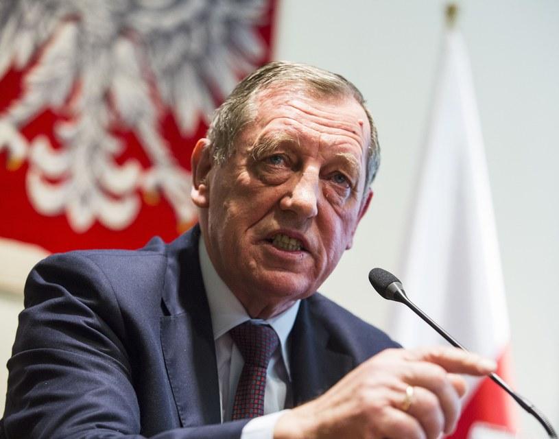 Minister rolnictwa Jan Szyszko /Andrzej Hulimka  /Reporter