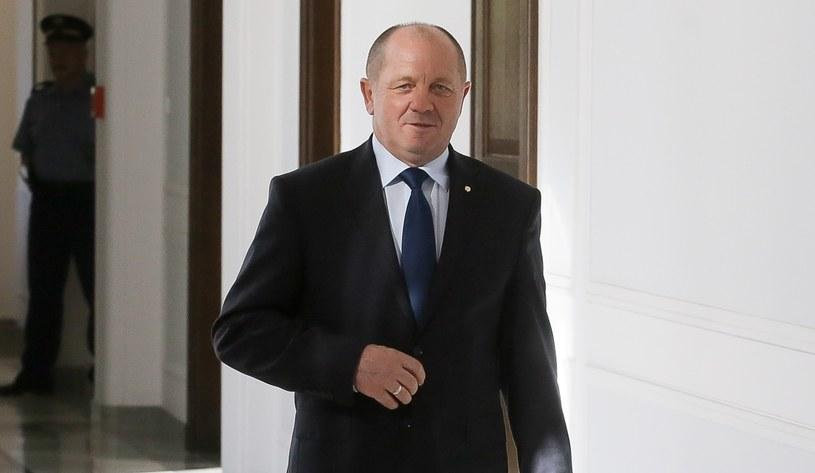 Minister rolnictwa Marek Sawicki po spotkaniu z Ewą Kopacz /Paweł Supernak /PAP