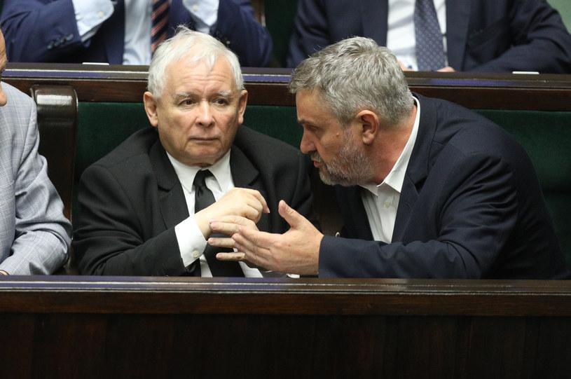Minister rolnictwa w towarzystwie prezesa PiS Jarosława Kaczyńskiego /Fot Tomasz Jastrzebowski /Reporter