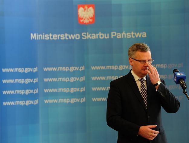 Minister skarbu Aleksander Grad, fot. Grzegorz Jakubowski /PAP