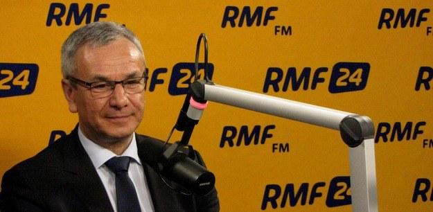 Minister sportu Andrzej Biernat był gościem Kontrwywiadu RMF FM /Fot. Olga Wasilewska/RMF FM /RMF24.pl