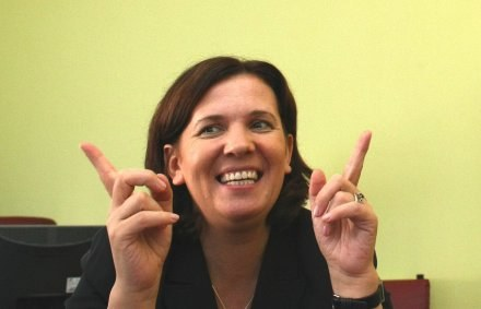 Minister sportu Elżbieta Jakubiak jest spokojna o EURO 2012. /Agencja Przegląd Sportowy
