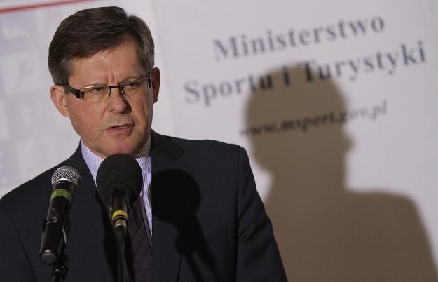 Minister sportu i turystyki Adam Giersz Fot. Bartłomiej Zborowski /PAP