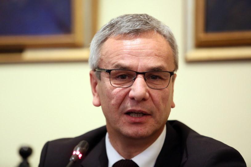 Minister Sportu i Turystyki Andrzej Biernat /Fot. Leszek Szymański /PAP
