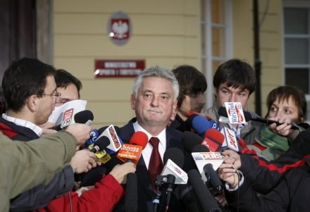 Minister sportu i turystyki Mirosław Drzewiecki /AFP