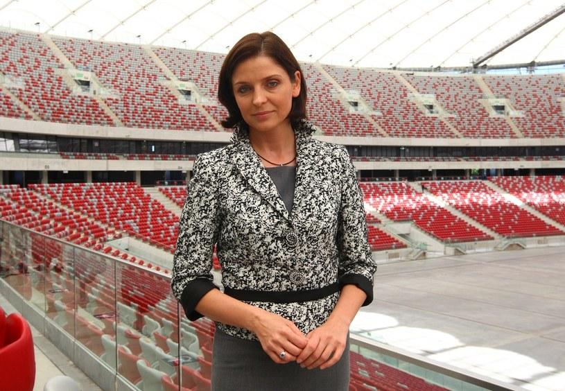 Minister sportu Joanna Mucha na Stadionie Narodowym /Stanisław Kowalczuk /East News