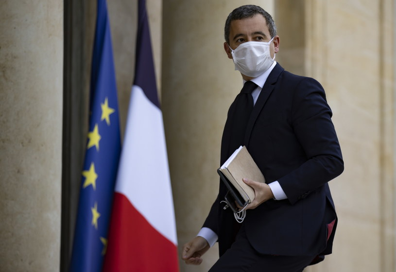 Minister spraw wewnętrznych Francji Gerald Darmanin /IAN LANGSDON /PAP/EPA