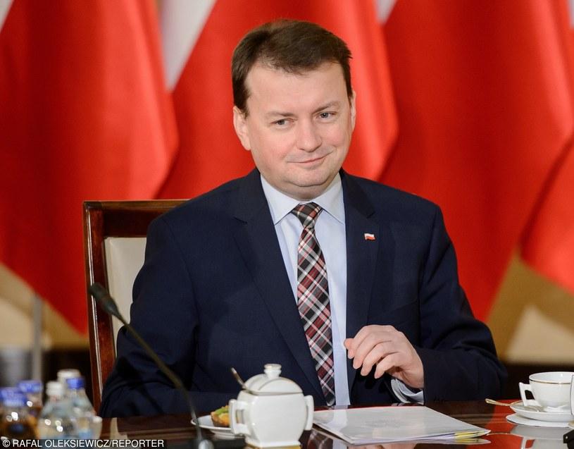 Minister spraw wewnętrznych i administracji Mariusz Błaszczak /Rafał Oleksiewicz /Reporter