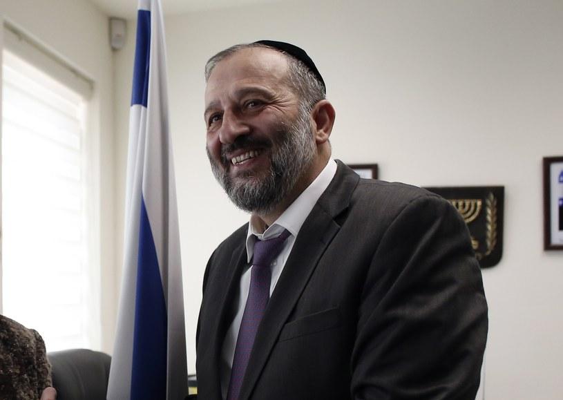 Minister spraw wewnętrznych Izraela i szef partii ortodoksyjnych Żydów sefardyjskich (Szas) Arjeh Deri /THOMAS COEX / AFP /AFP