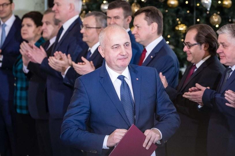 Minister spraw wewnętrznych Joachim Brudziński /Wojciech Radwański /AFP
