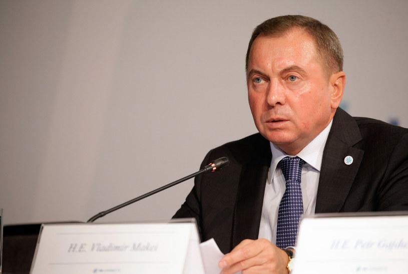 Minister spraw zagranicznych Białorusi Uładzimir Makiej /PETER KOHALMI /AFP