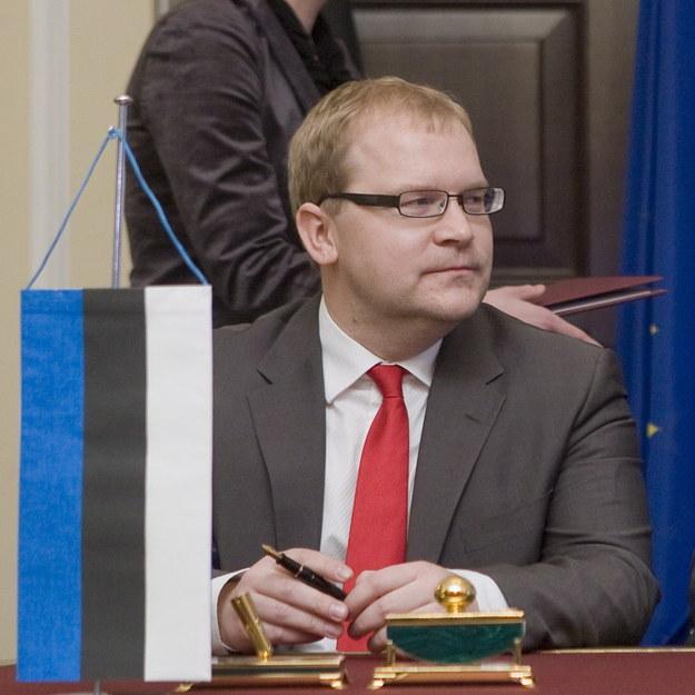 Minister spraw zagranicznych Estonii Urmas Paet / Paweł Kula   (PAP) /PAP