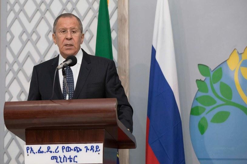 Minister spraw zagranicznych Federacji Rosyjskiej Siergiej Ławrow /ZACHARIAS ABUBEKER /AFP