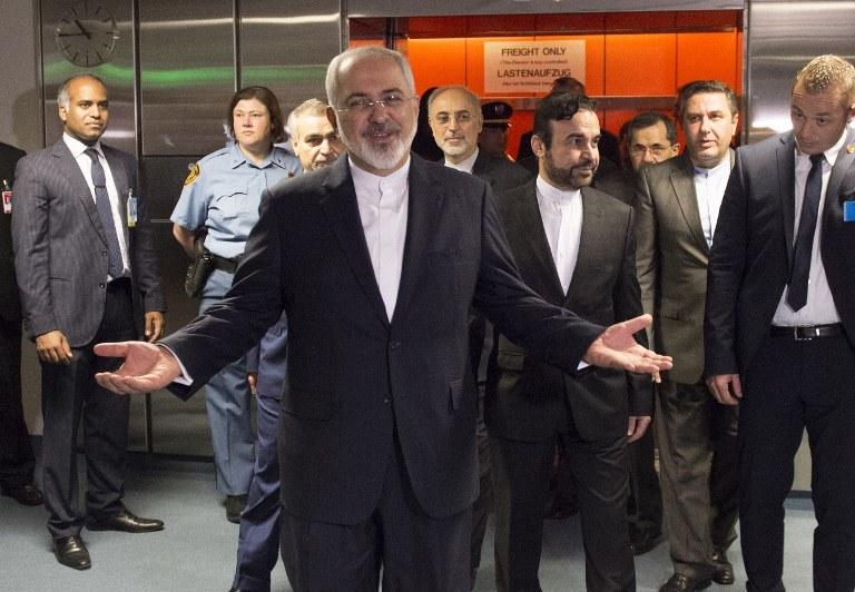 Minister spraw zagranicznych Iranu Mohammad Dżawad Zarif ocenił  że porozumienie ze światowymi mocarstwami na temat programu nuklearnego jest historycznym wydarzeniem /JOE KLAMAR / POOL / AFP /AFP