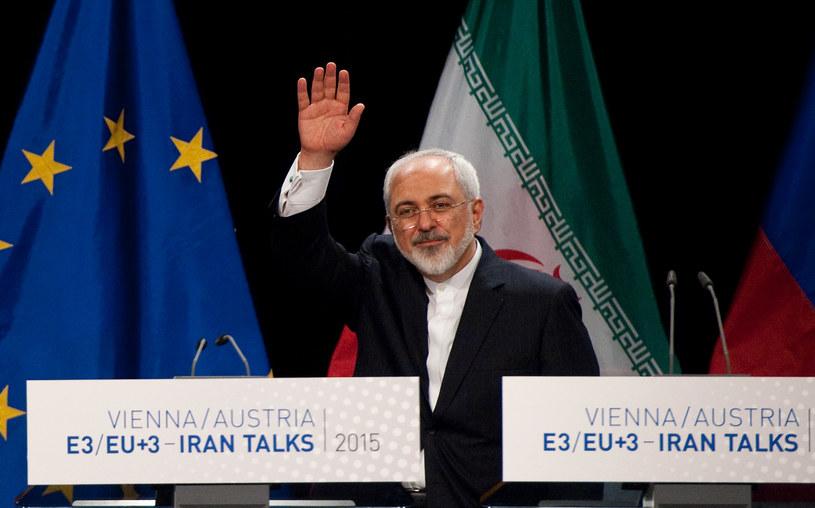 Minister spraw zagranicznych Iranu Mohammad Dżawad Zarif /SAMUEL KUBANI /AFP
