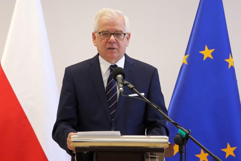 Minister spraw zagranicznych Jacek Czaputowicz podczas inauguracji aplikacji dyplomatyczno-konsularnej /Tomasz Gzell   /PAP