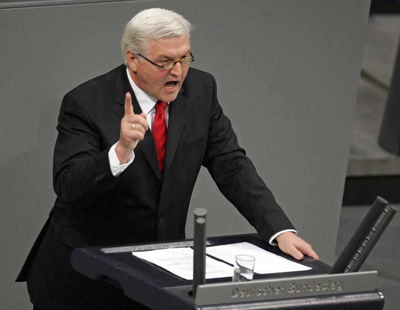 Minister spraw zagranicznych Niemiec Frank-Walter Steinmeier /AFP