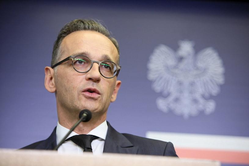 Minister spraw zagranicznych Niemiec Heiko Maas podczas konferencji prasowej po spotkaniu ministrem spraw zagranicznych RP Jackiem Czaputowiczem w Warszawie /Leszek Szymański /PAP