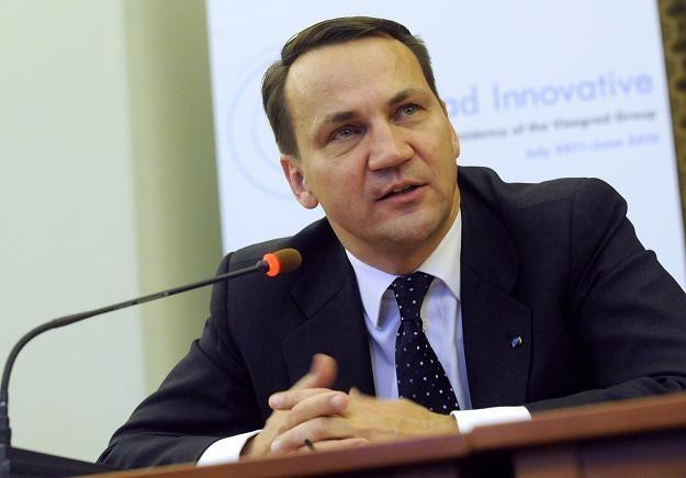Minister spraw zagranicznych Radosław Sikorski. /AFP