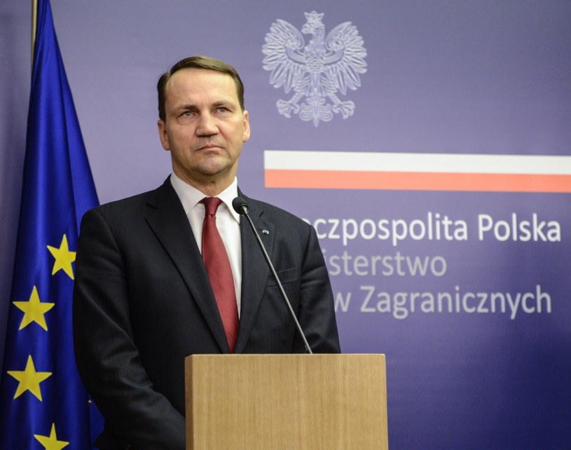 Minister spraw zagranicznych Radosław Sikorski /Jakub Kamiński   /PAP