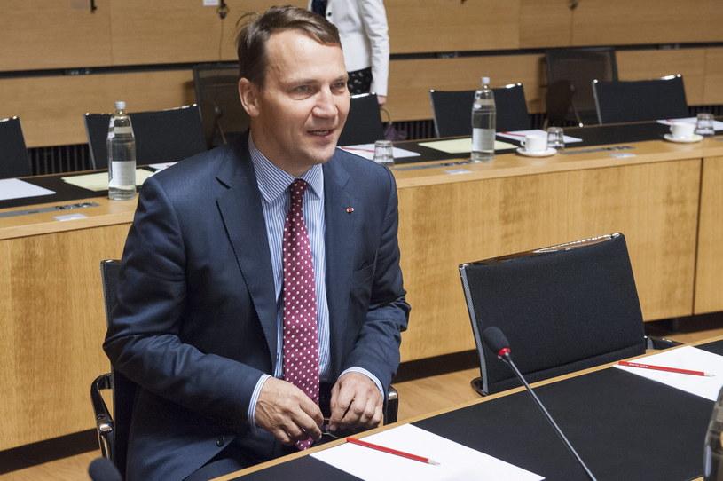 Minister spraw zagranicznych Radosław Sikorski /PAP/EPA /PAP/EPA