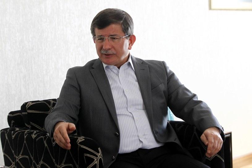 Minister spraw zagranicznych Turcji Ahmet Davutoglu. /AFP