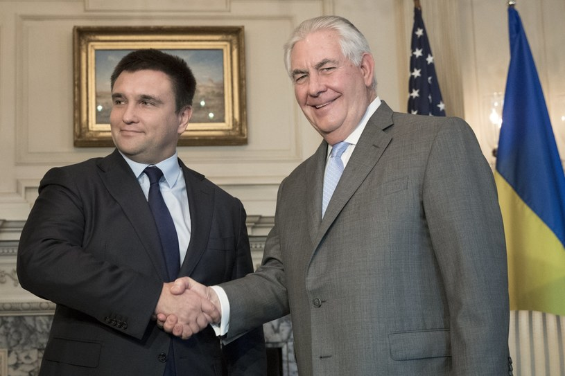 Minister Spraw Zagranicznych Ukrainy Pawło Klimkin i sekretarza stanu USA Rex Tillerson /MICHAEL REYNOLDS    /PAP