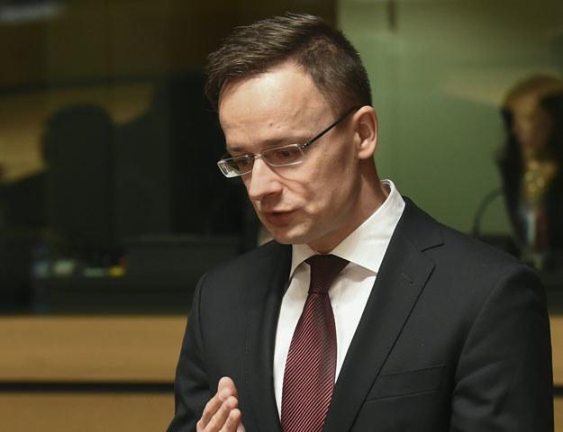 Minister spraw zagranicznych Węgier Peter Szijjarto /AFP