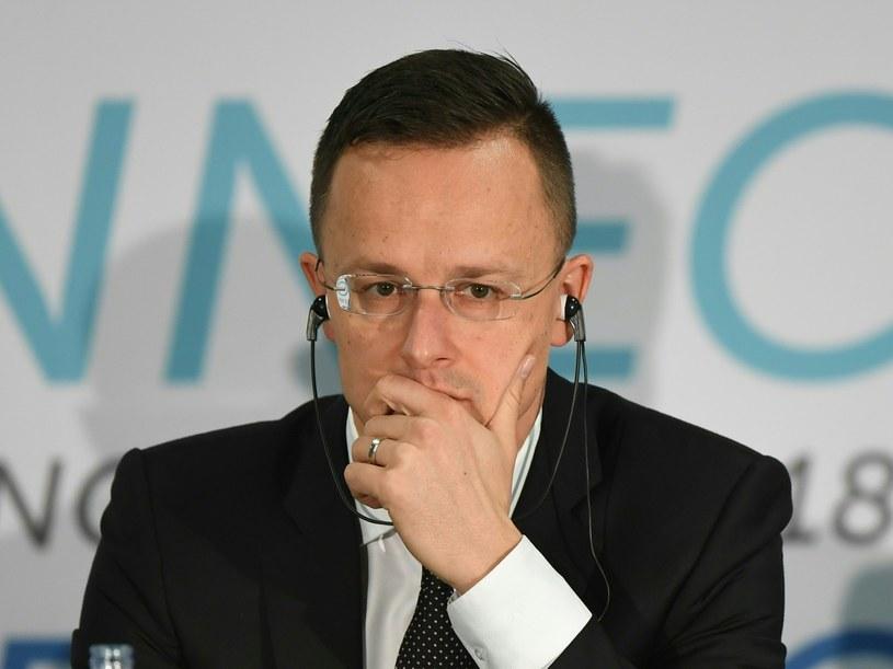Minister spraw zagranicznych Węgier Peter Szijjarto /Attila Kisbenedek /AFP