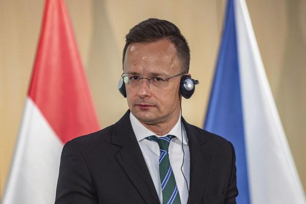 Minister spraw zagranicznych Węgier Peter Szijjarto /Martin Divisek /PAP/EPA