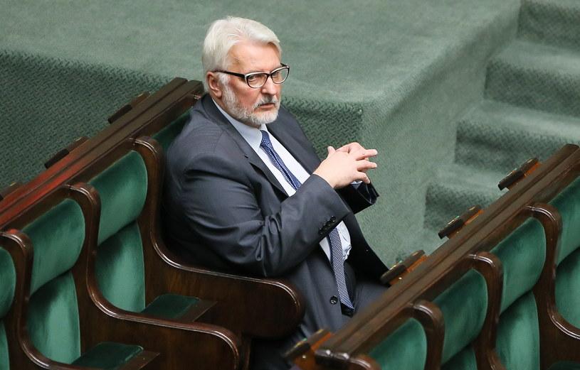 Minister spraw zagranicznych Witold Waszczykowski na sali obrad Sejmu /Paweł Supernak /PAP