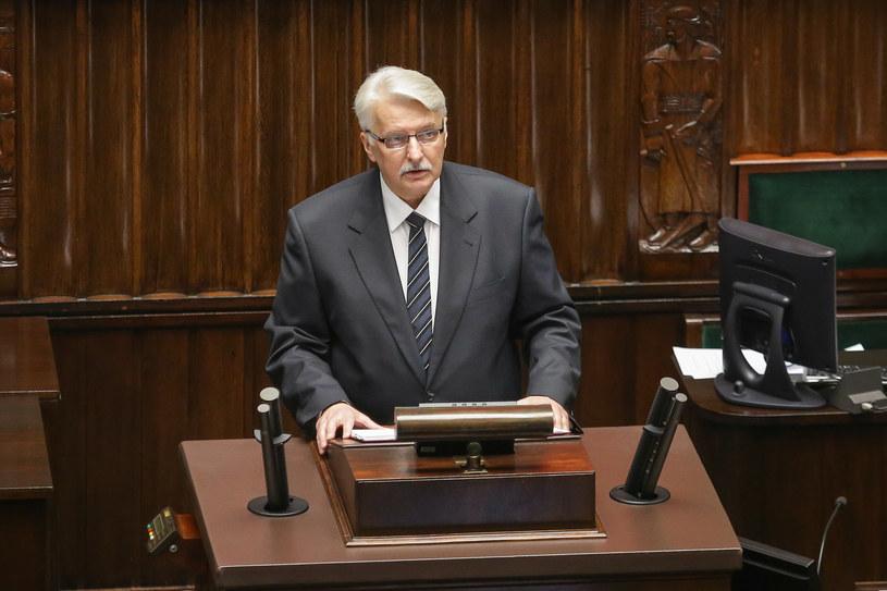 Minister spraw zagranicznych Witold Waszczykowski wygłasza w Sejmie tzw. małe expose /Simona Supino / Forum /Agencja FORUM