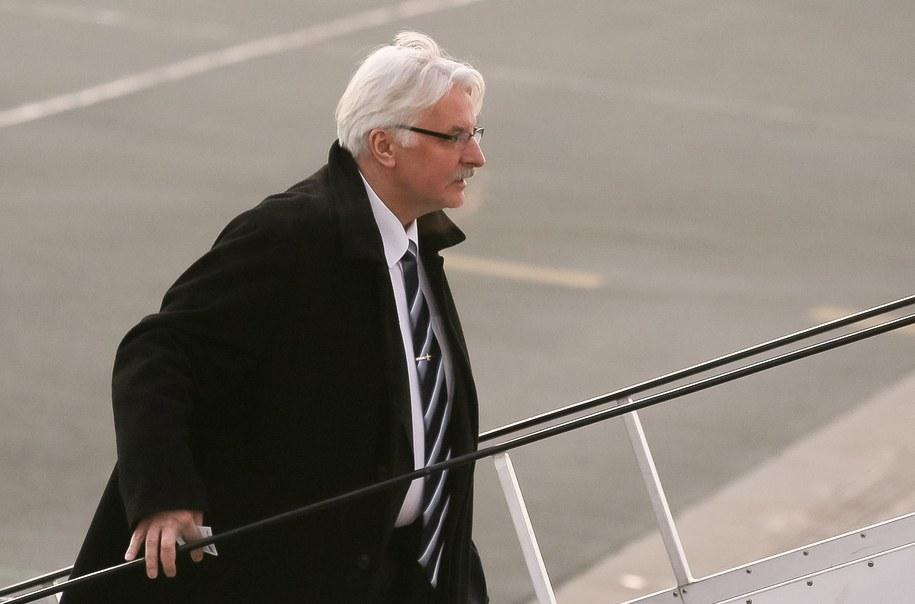 Minister spraw zagranicznych Witold Waszczykowski /Paweł Supernak /PAP