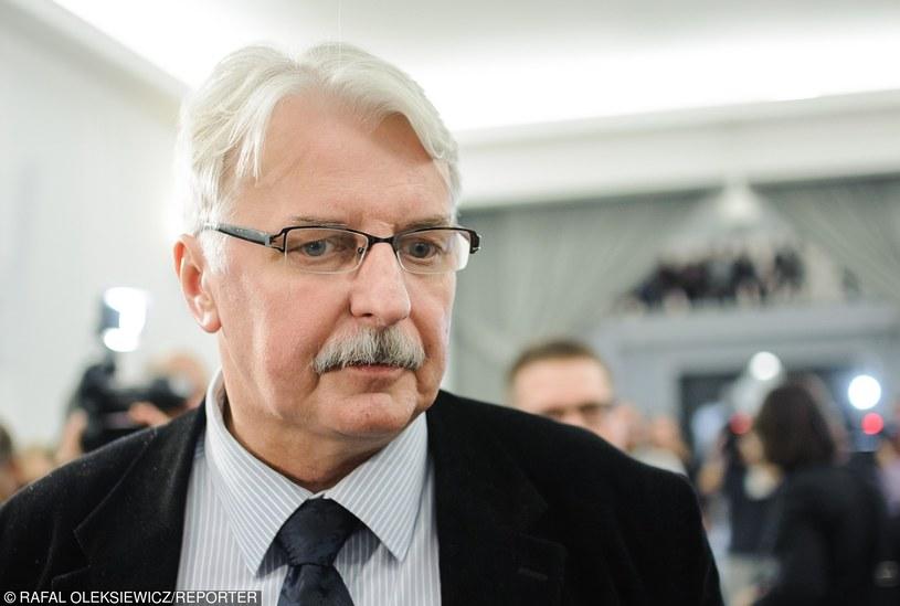Minister spraw zagranicznych Witold Waszczykowski /Rafal Oleksiewicz/REPORTER /East News