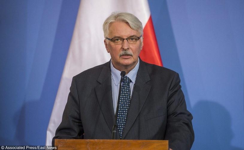 Minister spraw zagranicznych Witold Waszczykowski /Fotolink /East News