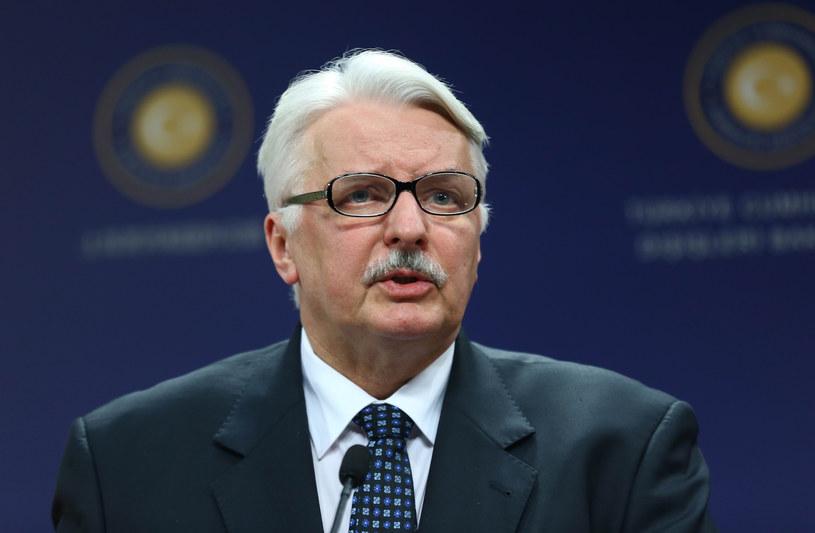 Minister spraw zagranicznych Witold Waszczykowski /AFP