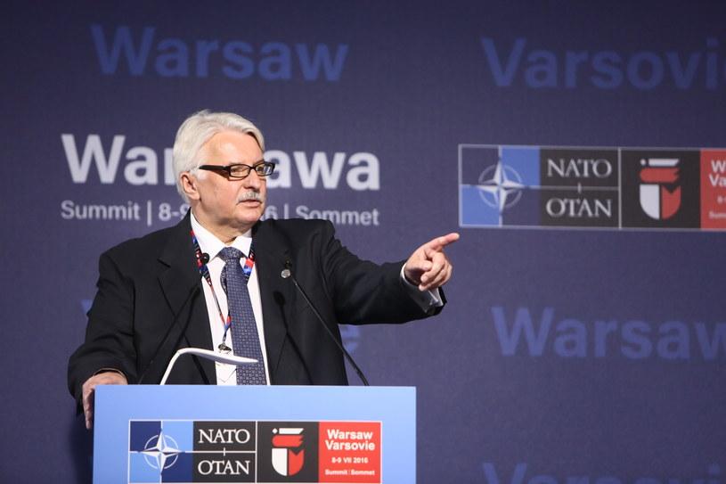 Minister spraw zagranicznych Witold Waszczykowski /Leszek Szymański /PAP