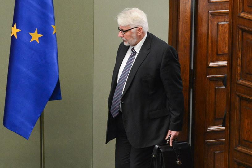 Minister spraw zagranicznych Witold Waszczykowski /Jakub Kamiński   /PAP