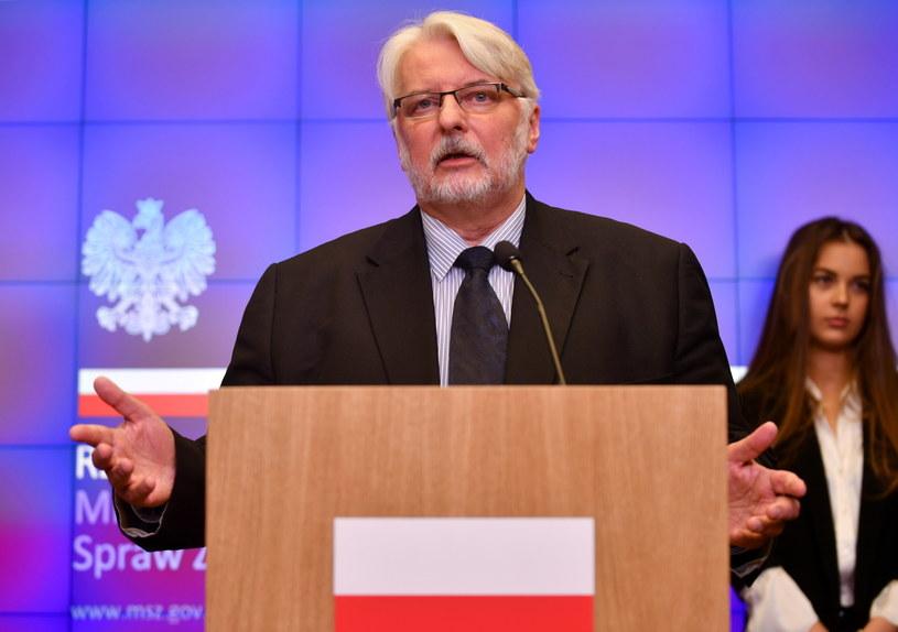 Minister spraw zagranicznych Witold Waszczykowski /Bartłomiej  Zborowski /PAP