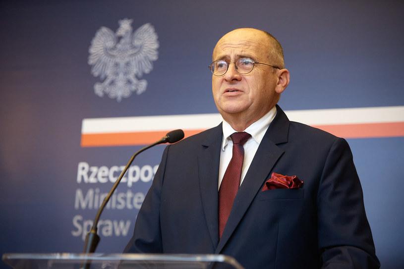 Minister spraw zagranicznych Zbigniew Rau /Hubert Mathis/Zuma Press /Agencja FORUM