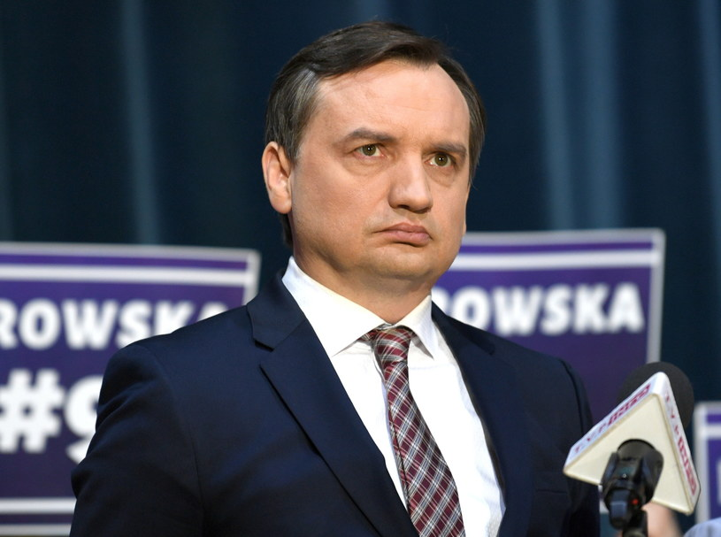 Minister sprawiedliwości, prokurator generalny Zbigniew Ziobro podczas konferencji prasowej w Rzeszowie /Darek Delmanowicz /PAP