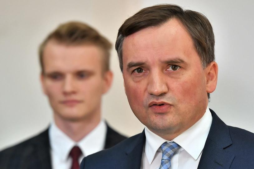 Minister sprawiedliwości, prokurator generalny Zbigniew Ziobro i Cezary Kempa / Maciej Kulczyński    /PAP