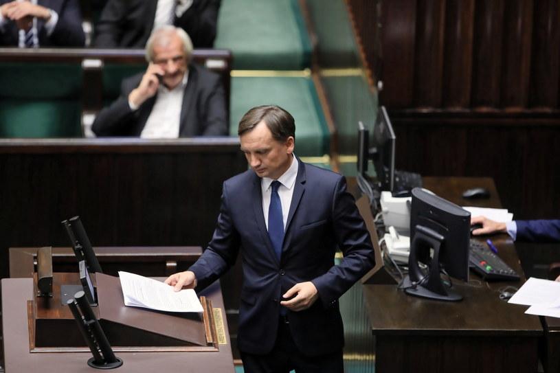 Minister sprawiedliwości Zbigniew Ziobro w Sejmie /Leszek Szymański /PAP
