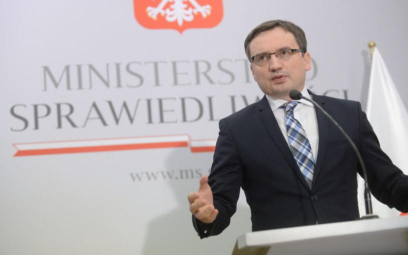 Minister sprawiedliwości Zbigniew Ziobro /Bartłomiej Zborowski /PAP