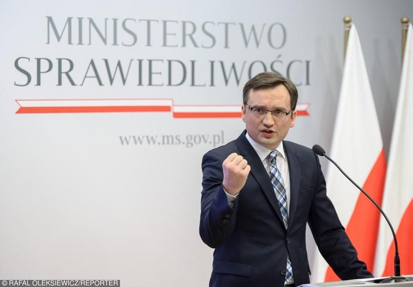 Minister sprawiedliwości Zbigniew Ziobro /Rafal Oleksiewicz/REPORTER /East News