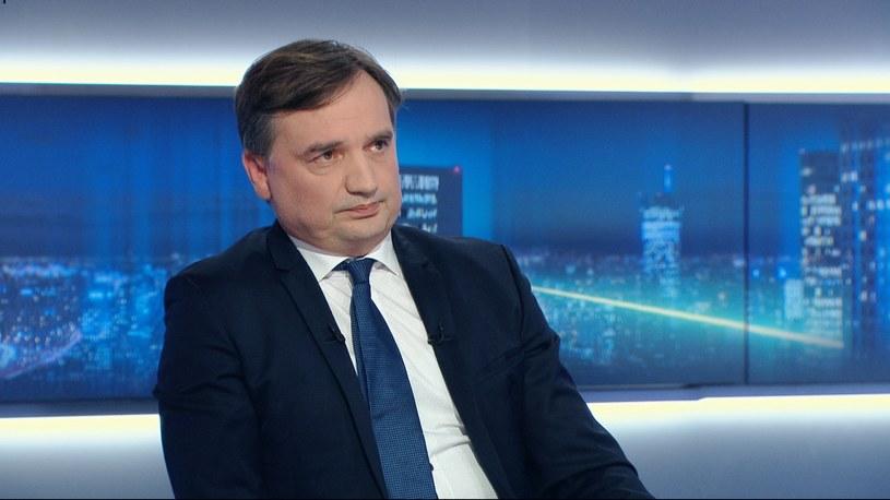 Minister sprawiedliwości Zbigniew Ziobro /Polsat News