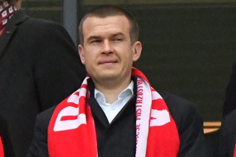 Minister Witold Bańka na meczu Polska - Czarnogóra w Warszawie /AFP
